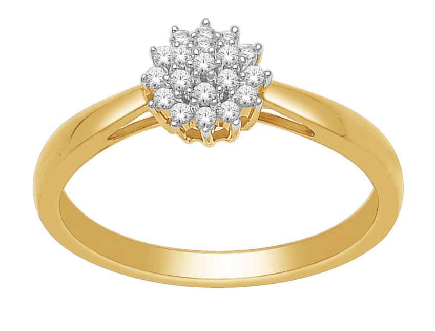 Gouden verlovingsring afbeeldingen geelgouden briljant rozet ring foto105