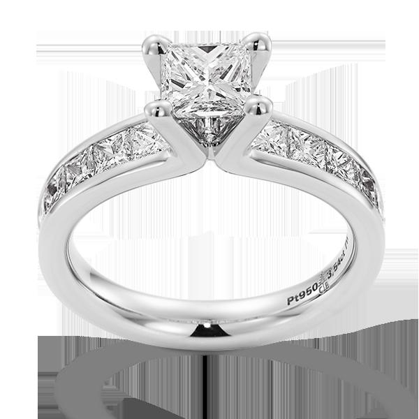 Gouden verlovingsring afbeeldingen witgouden solitaire diamant princes ring foto103