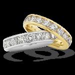 Gouden Verlovingsringen Afbeeldingen alliance ringen Witgoud Geelgoud briljant princes foto2