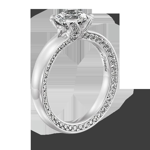 Gouden verlovingsring afbeeldingen witgouden briljant solitaire ring foto110