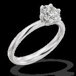 Gouden Verlovingsringen Afbeeldingen solitaire ring Witgoud briljant foto1