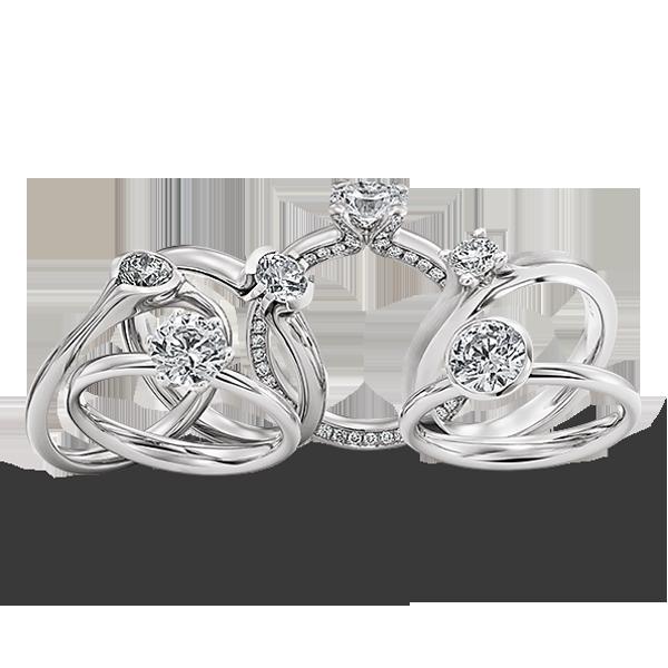 Gouden verlovingsring afbeeldingen diverse witgouden soltaire briljant ringen foto100