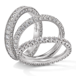 Witgouden alliance ringen met briljant afbeedling foto5