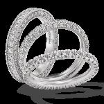 Gouden Verlovingsringen Afbeeldingen witgouden alliance ringen briljanten foto5