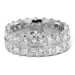 Gouden Verlovingsringen Afbeeldingen dubbele alliance ring Witgoud diamanten princes foto3