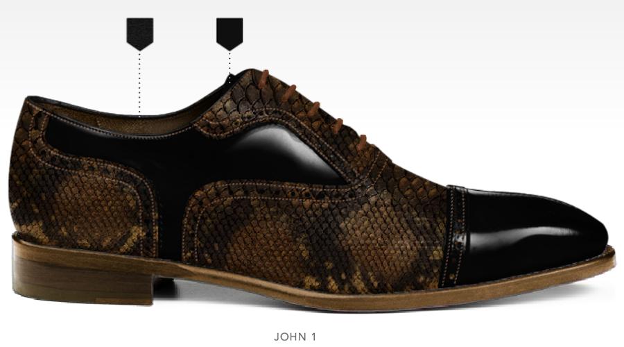 barli schoenen afbeeldingen heren online foto66 zwart bruin kroko john1