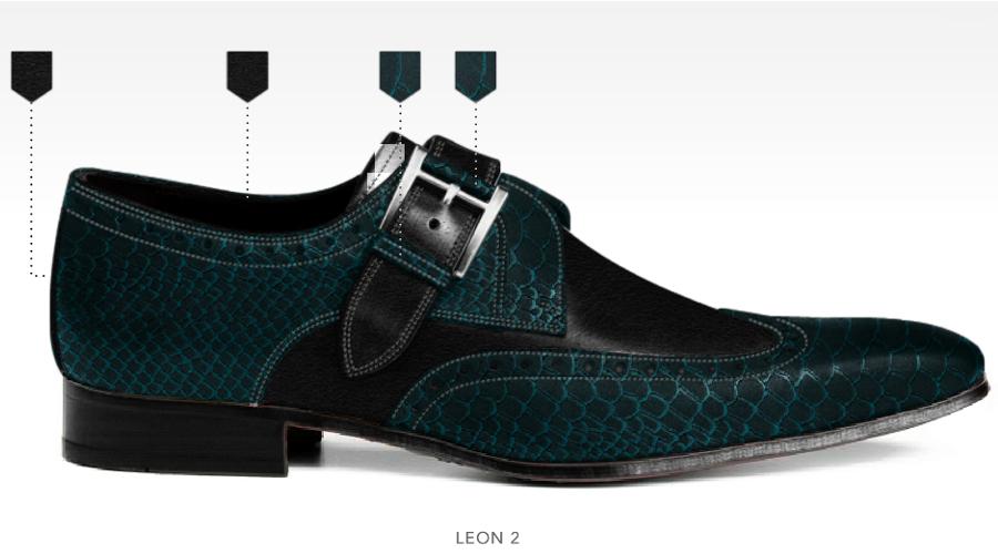 barli schoenen afbeeldingen heren online foto75 zwart turquoise leon2