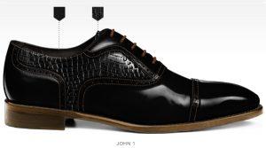 Barli schoenen zelf ontwerpen afbeeldingen heren online fotos77-zwart-print-john1
