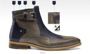 7bb5b83968392a ... zelf ontwerpen herenschoen afbeelding foto191 bruin print leon4 schoenen  voor heren afbeelding online breda herenschoenen foto 001 blauw beige john3