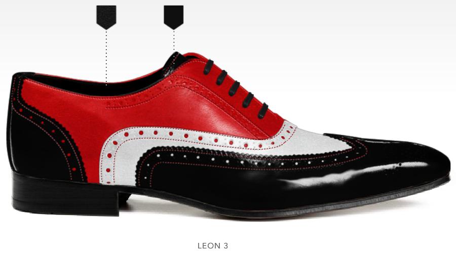 barli schoenen afbeeldingen heren online foto86 zwart wit rood leon3