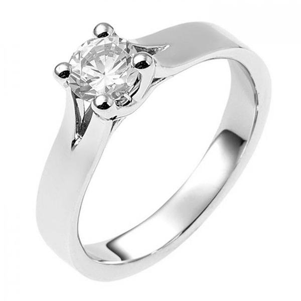 zilveren verlovingsring afbeeldingen foto1 soltaire ring model 02Z